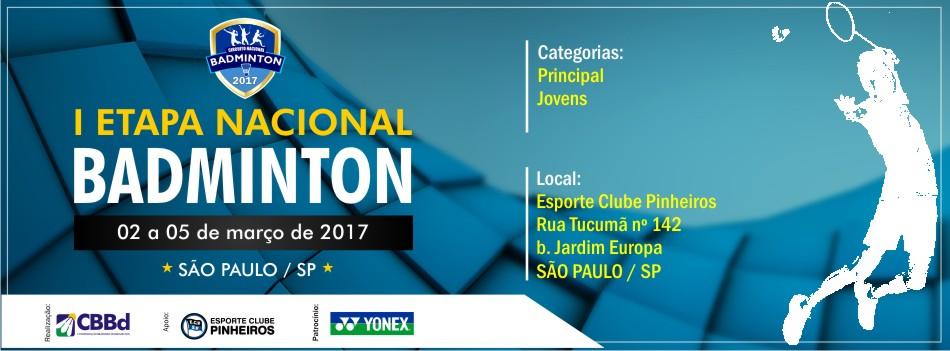 Publicada Carta Convite da 1ª Etapa Nacional 2017