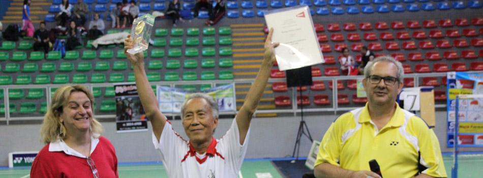 Precursor do badminton brasileiro recebe homenagem durante nacional de Toledo.