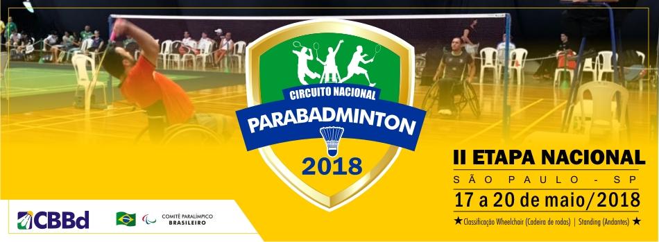 II Etapa Nacional de Badminton Paralímpico nas categorias Principal e Jovens volta à São Paulo
