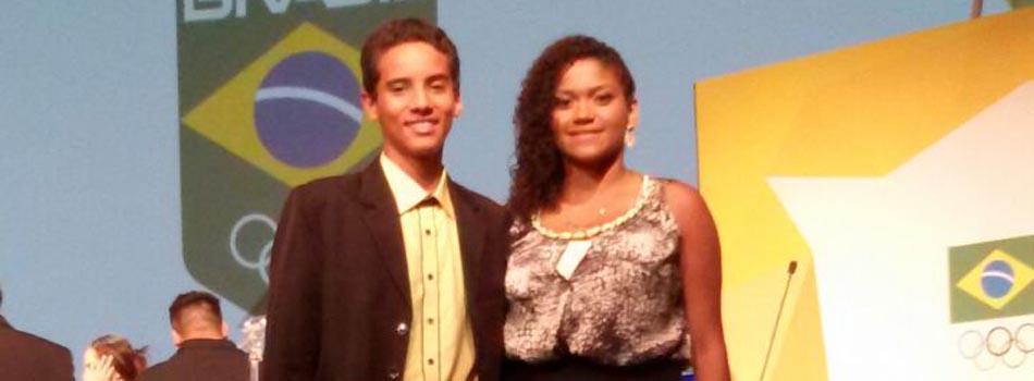 Atletas do badminton s�o laureados no Pr�mio Brasil Ol�mpico 2014.