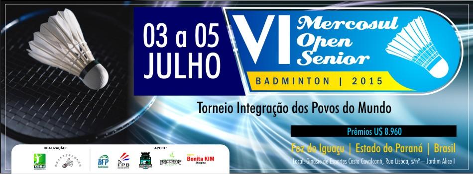 6� Mercosul Open Senior ser� realizado em Foz de Igua�u/PR no m�s de julho
