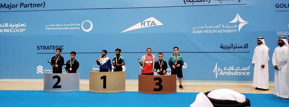 Brasil, com Vitor Tavares, fatura bronze no Internacional de Dubai