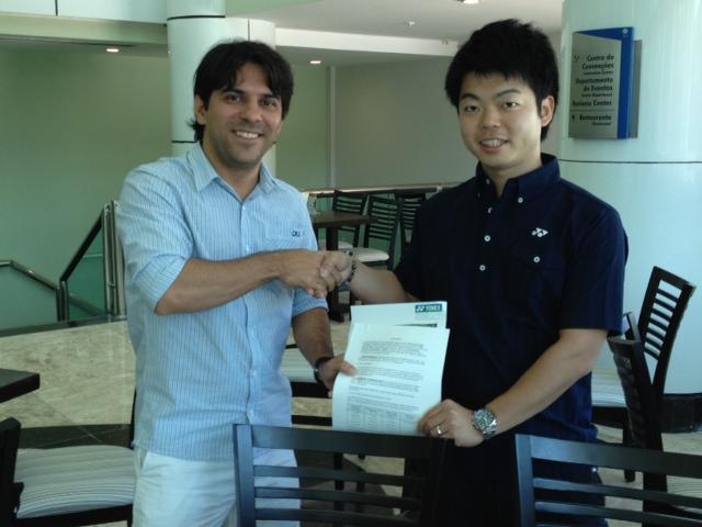 Yonex é a nova patrocinadora de equipamentos esportivos do Badminton Brasil (Fonte: CBBd)