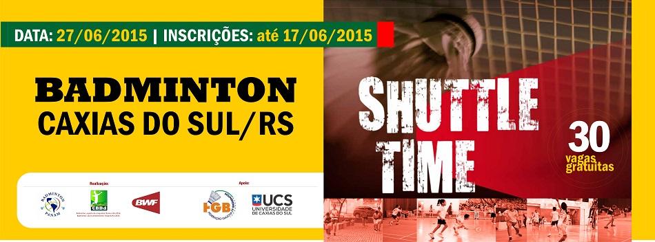 Caxias do Sul/RS recebe, em junho, edi��o do Shuttle Time com 30 vagas gratuitas.