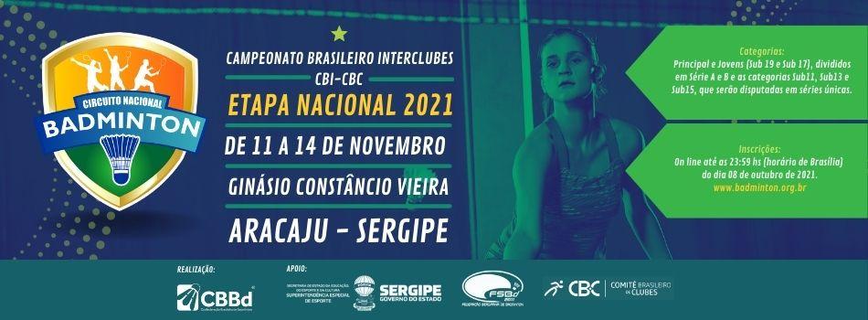 CBBd divulga lista parcial de inscritos na Etapa Nacional 2021 de badminton