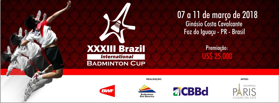 CBBd divulga lista de inscritos no 33º Brazil International Badminton Cup