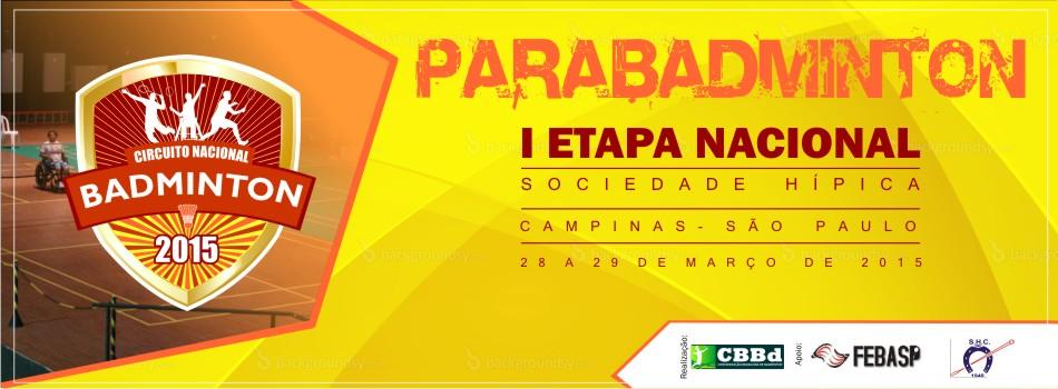 Carta Convite da I Etapa Nacional de Parabadminton j� est� dispon�vel