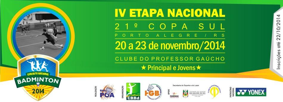 �ltima etapa do nacional ser� disputada em Porto Alegre/RS na 21� Copa Sul