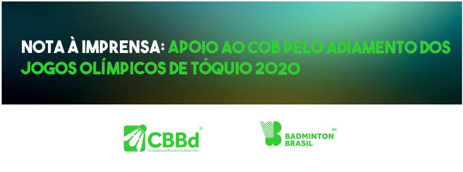 CBBd endossa manifestação do COB por adiamento dos Jogos Olímpicos 2020