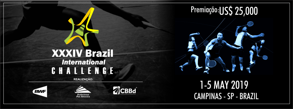 Lista de inscritos do 34º Brasil Internacional Challenge 2019