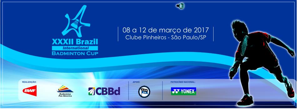 Já está disponível para brasileiros, carta convite para a 32º Brasil Internacional Badminton Cup