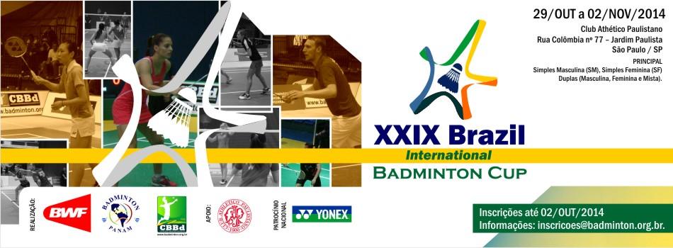 145 atletas de 20 pa�ses competir�o na 29� Edi��o do Brazil International Badminton Cup em SP.