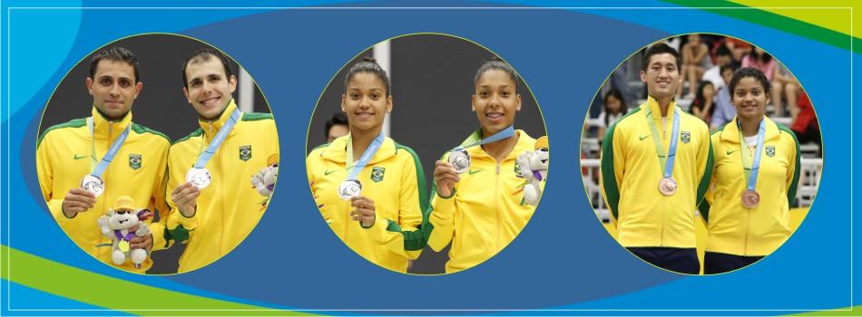 Badminton Brasil finaliza Pan 2015 como terceira pot�ncia no total de medalhas