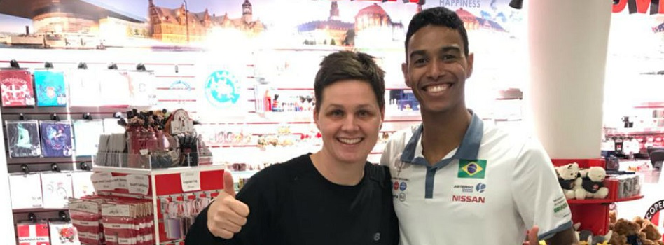 Com apoio da CBBd atleta brasileiro inicia projeto para estar entre os 20 melhores do ranking