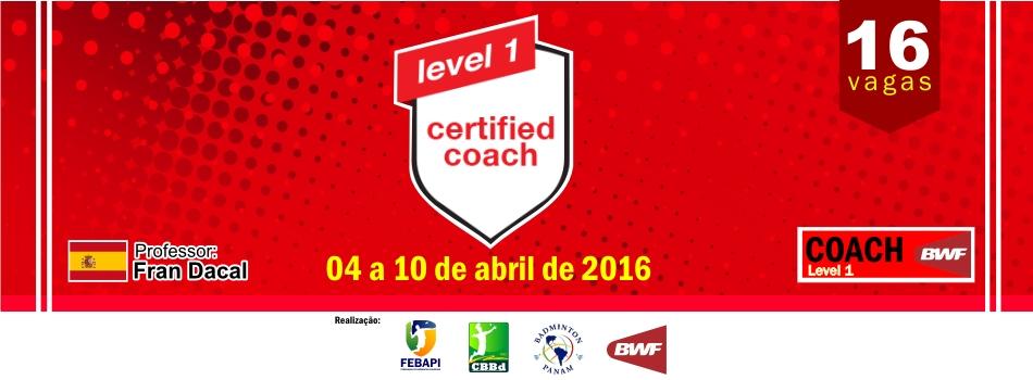 Coach Level 1 ser� realizado em Teresina/Pi em nova data. Confira!