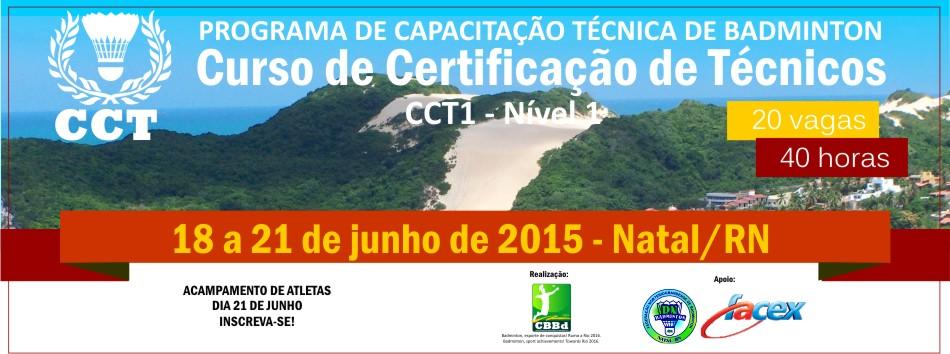 Curso de Capacita��o T�cnica (CCT1) ser� ministrado em Natal/RN. Inscreva-se agora!