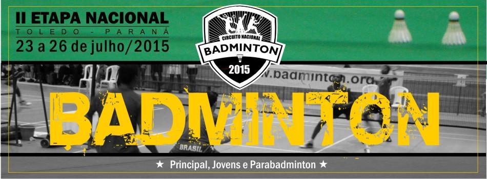 Comunicado: Nacional de Badminton e Parabadminton de Toledo (PR) - Altera��o de Data