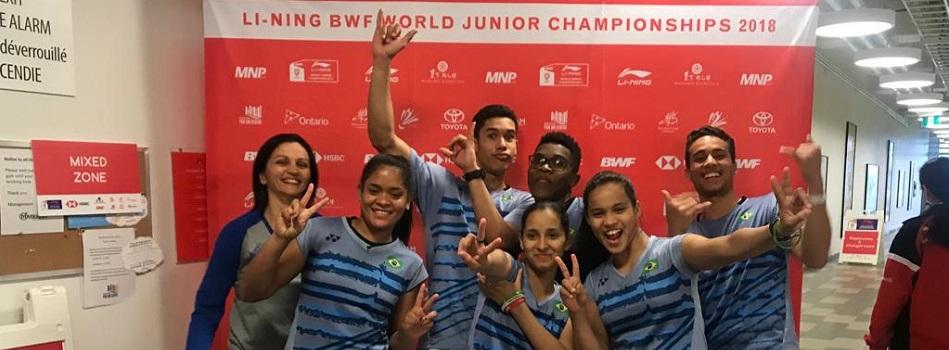 Equipe Júnior do Brasil sai da 22ª posição e se torna a 19ª potência mundial no badminton.