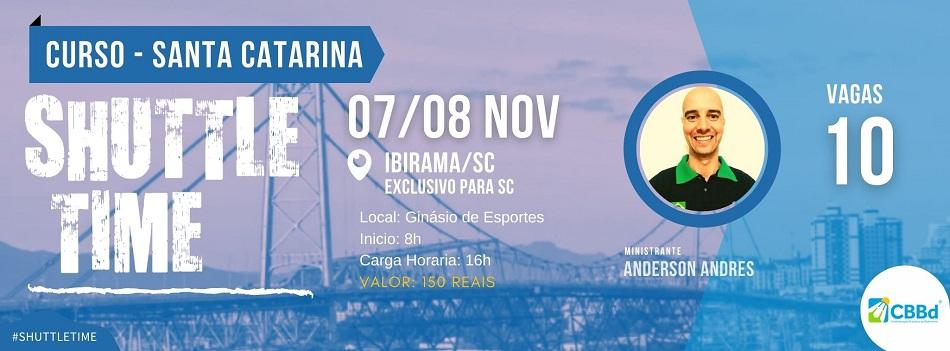 Shuttle Time de Santa Catarina já tem lista de selecionados ao curso, confira!