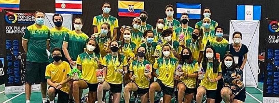 Brasil conquista medalha de prata na final XXIX Campeonato Pan Am Júnior de Badminton 2021
