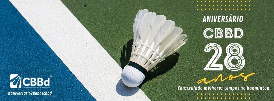 Confederação Brasileira de Badminton (CBBd) celebra 28 anos nesta terça-feira, 12 de outubro