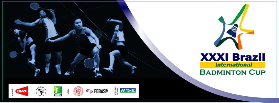 Divulgada lista de atletas inscritos para o XXXI Brazil International Badminton Cup