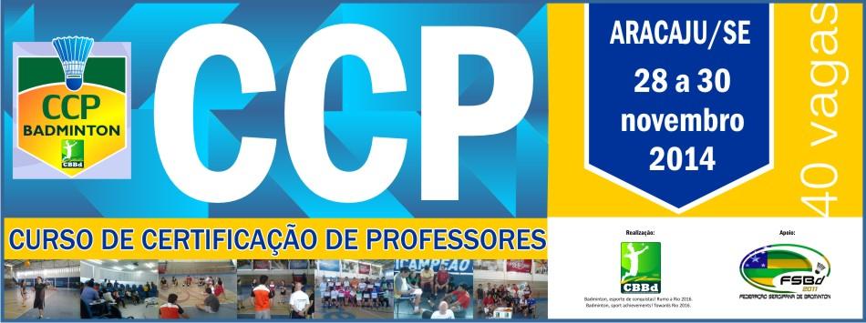 Abertas 40 vagas para CCP a ser realizado em Aracaju/SE