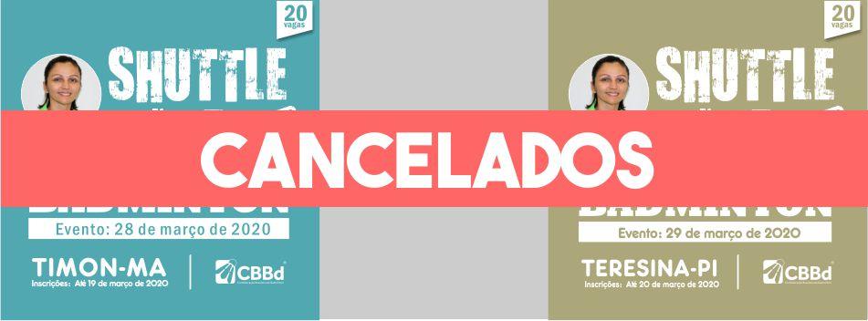 Edição dos cursos Shutle Time em Timon e Teresina estão cancelados.