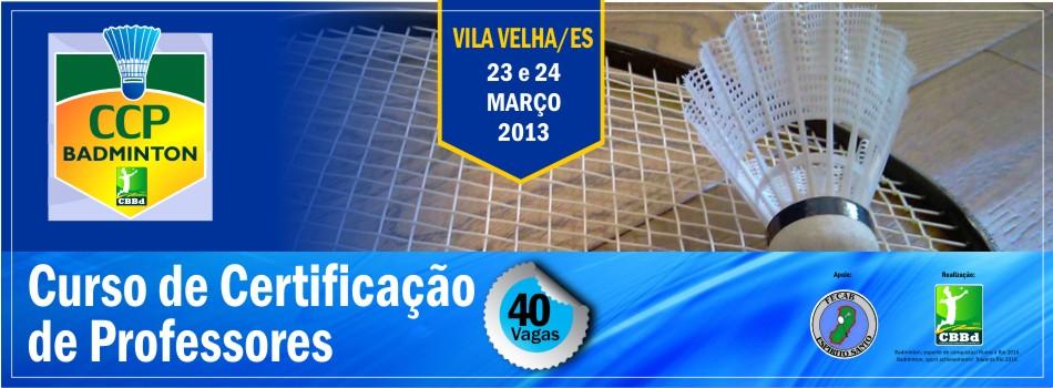 CCP - Curso de Certificação de Professores de Badminton - Vila Velha/ES