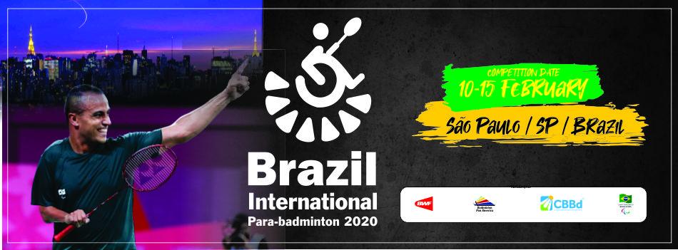 Divulgada carta convite do Brasil Parabadminton Internacional 2020